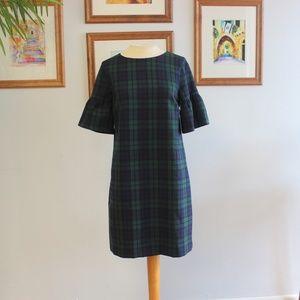 Vineyard Vines Blackwatch Plaid Bell Sleeve Dress